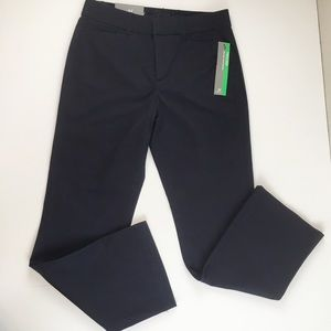NWT JM Collection Navy No Gap Trousers 4 Short